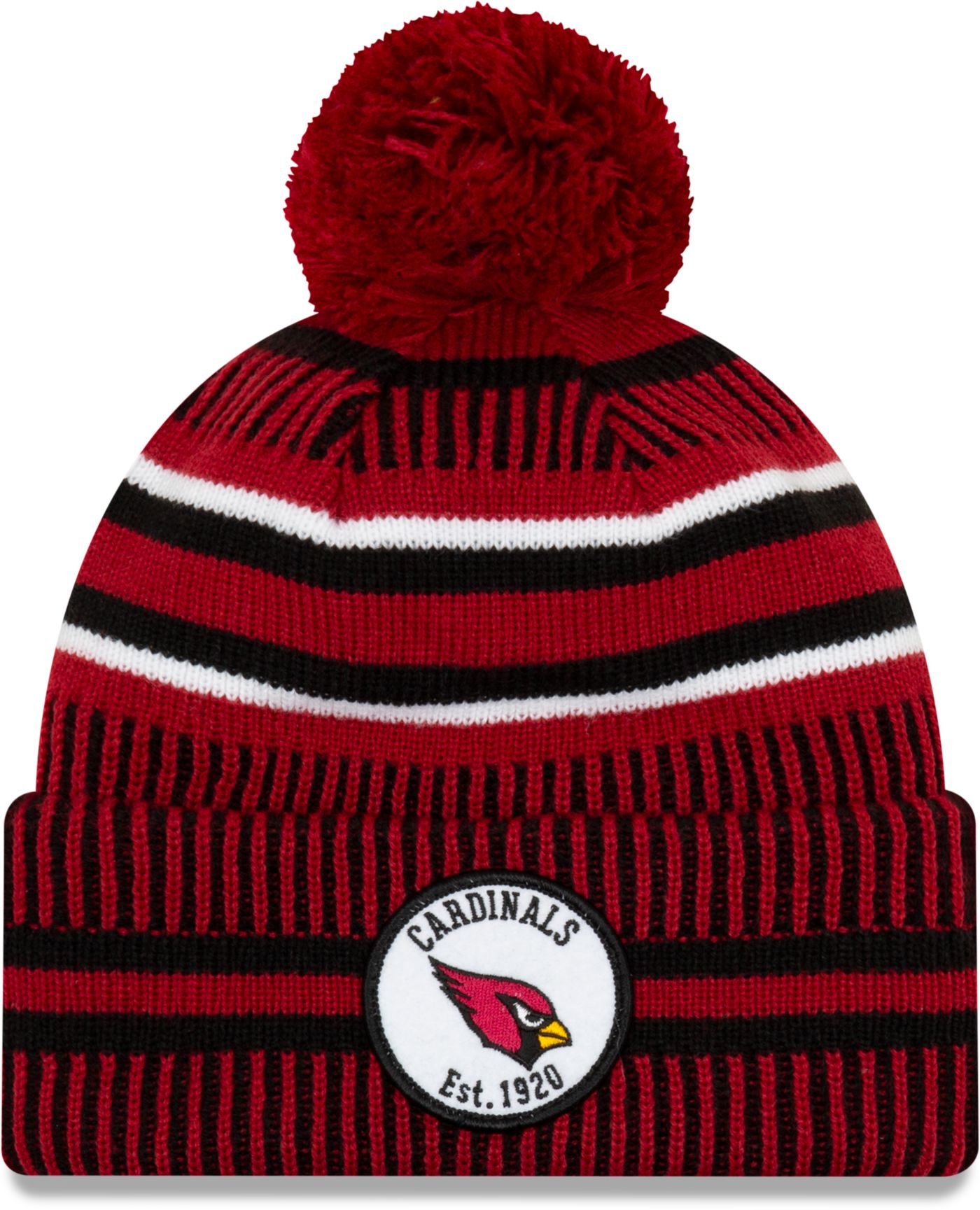 New Era Men's Arizona Cardinals Sideline Home Sport Pom Knit