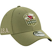 New Era Men's Salute to Service Arizona Cardinals 39Thirty Olive Stretch Fit Hat