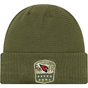 New Era Men's Salute to Service Arizona Cardinals Olive Cuffed Knit