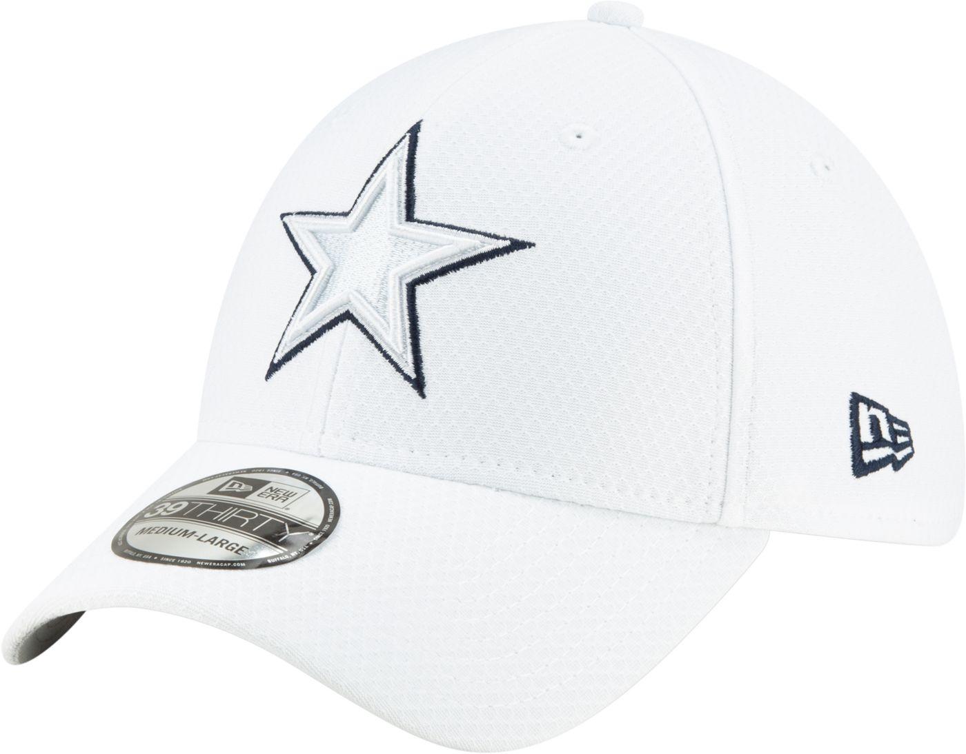 New Era Men's Dallas Cowboys Sideline 100th 39Thirty Stretch Fit White Hat