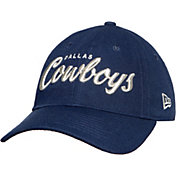 New Era Women's Dallas Cowboys Metallic Script 9Twenty Adjustable Navy Hat