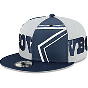 New Era Men's Dallas Cowboys Sideline All Over 9Fifty Adjustable Navy Hat