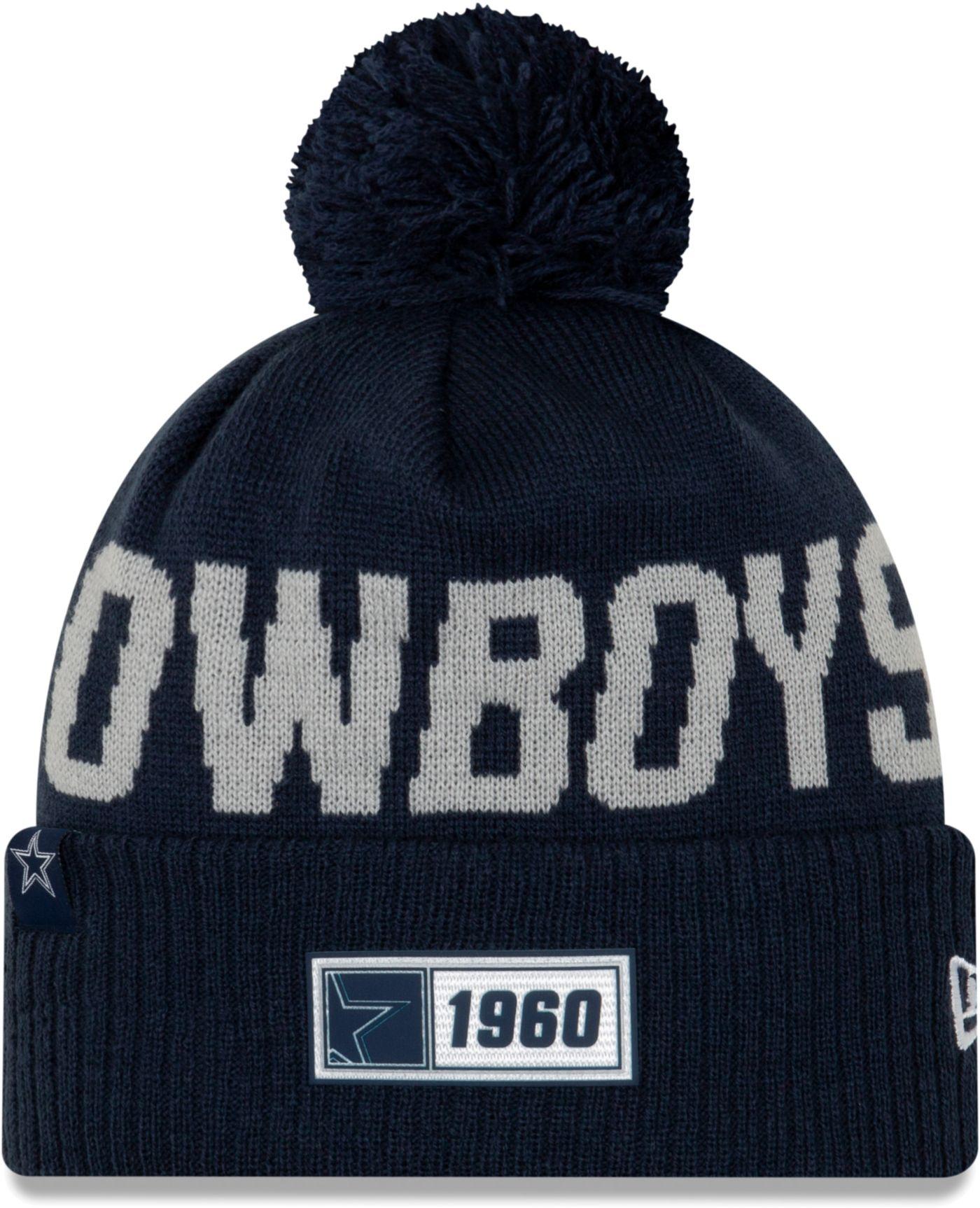 New Era Men's Dallas Cowboys Sideline Road Sport Pom Knit
