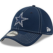 New Era Men's Dallas Cowboys Sideline 100th 39Thirty Stretch Fit Navy Hat