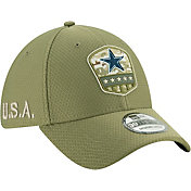 New Era Men's Salute to Service Dallas Cowboys 39Thirty Olive Stretch Fit Hat