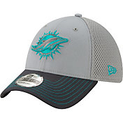 New Era Men's Miami Dolphins Neo Grey Stretch Fit Hat