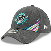 New Era Men's Miami Dolphins Sideline Crucial Catch 39Thirty Graphite Stretch Fit Hat