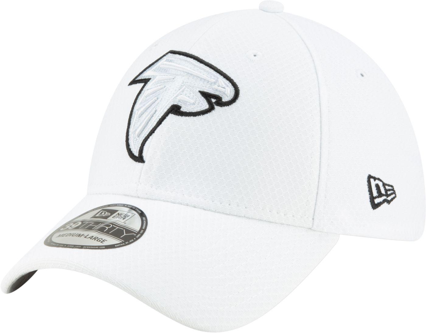 New Era Men's Atlanta Falcons Sideline 100th 39Thirty Stretch Fit White Hat