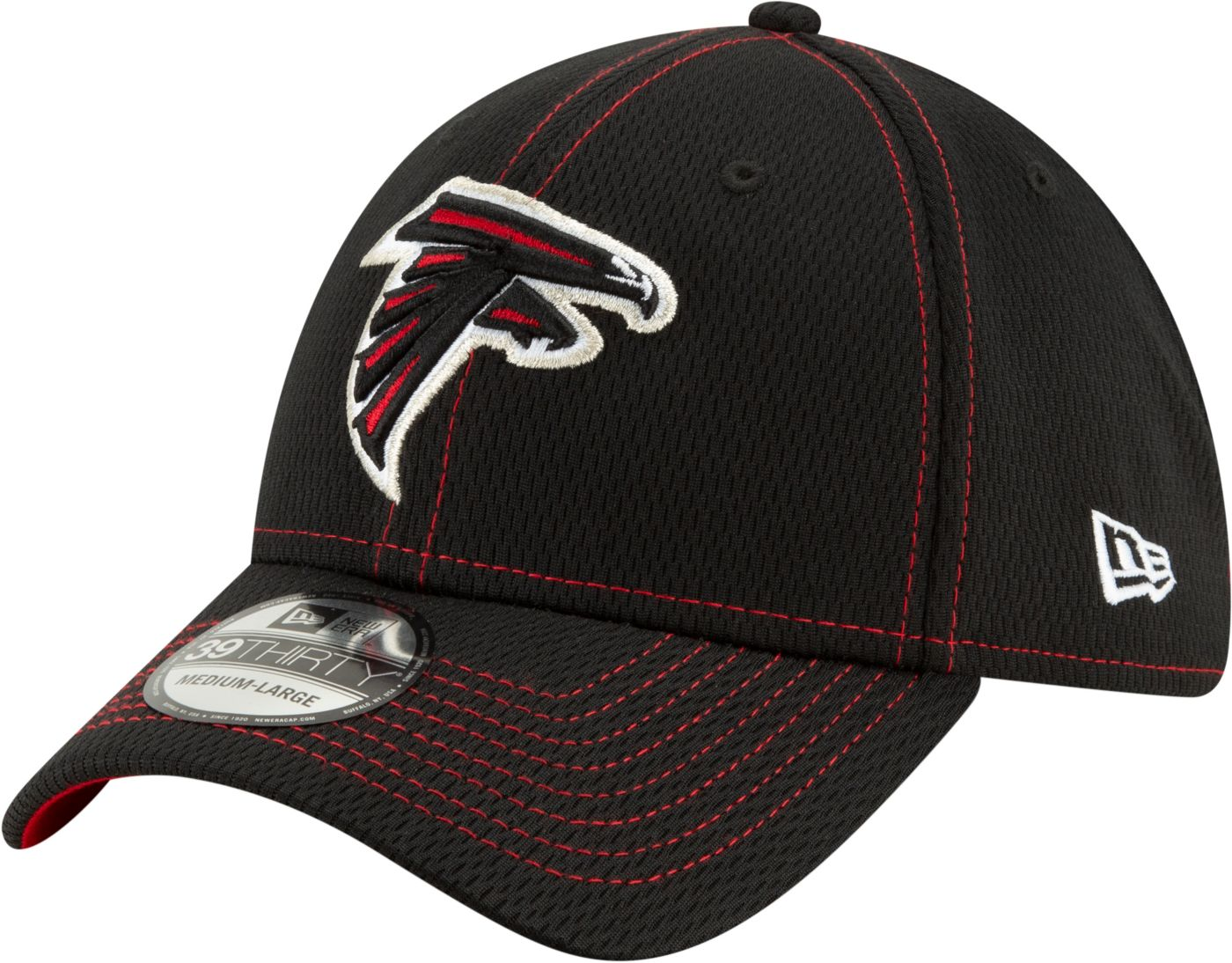 New Era Men's Atlanta Falcons Sideline Road 39Thirty Stretch Fit Hat