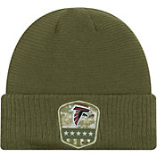 New Era Men's Salute to Service Atlanta Falcons Olive Cuffed Knit