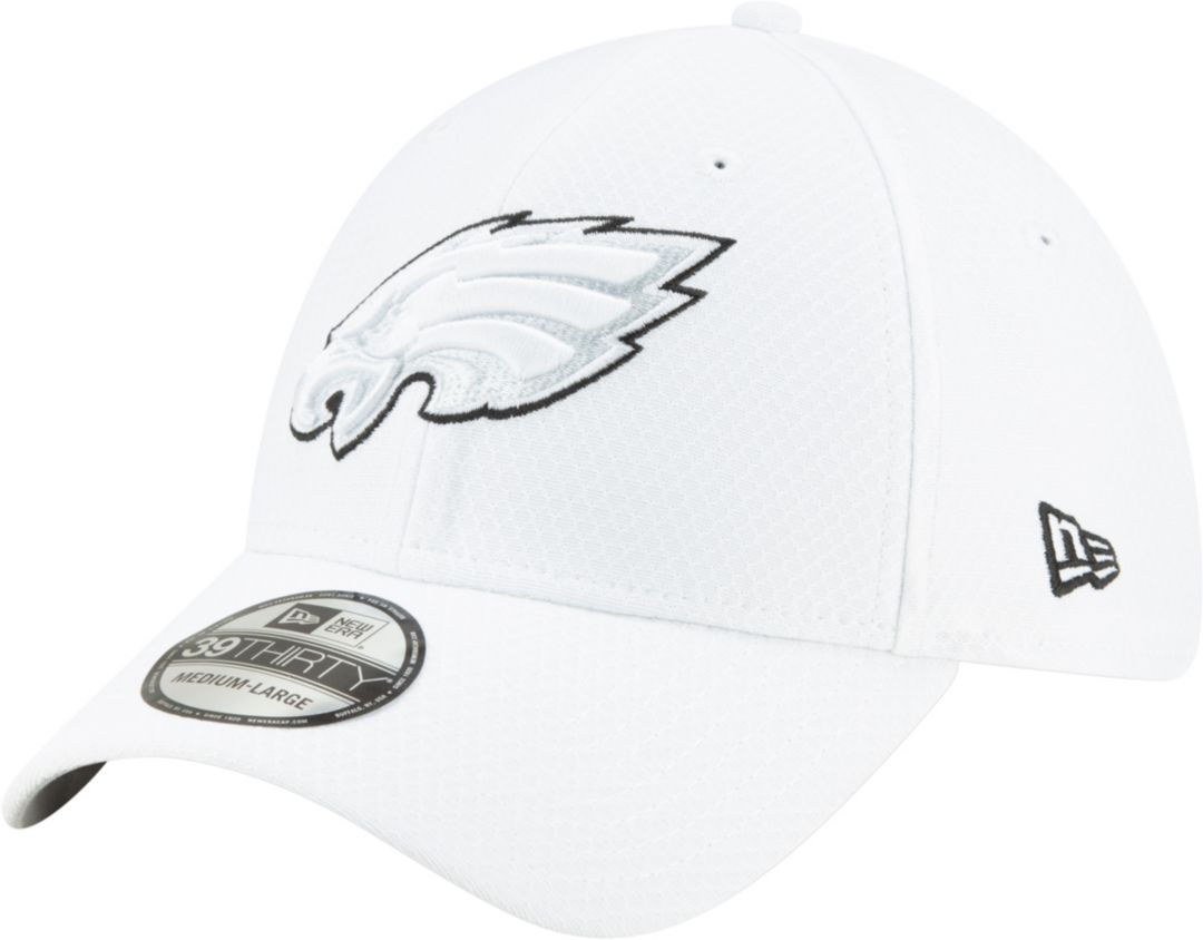 premium selection 70506 b0496 New Era Men's Philadelphia Eagles Sideline 100th 39Thirty Stretch Fit White  Hat