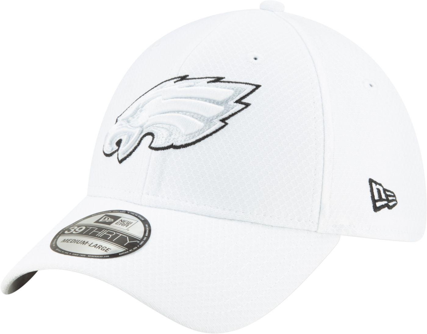 New Era Men's Philadelphia Eagles Sideline 100th 39Thirty Stretch Fit White Hat
