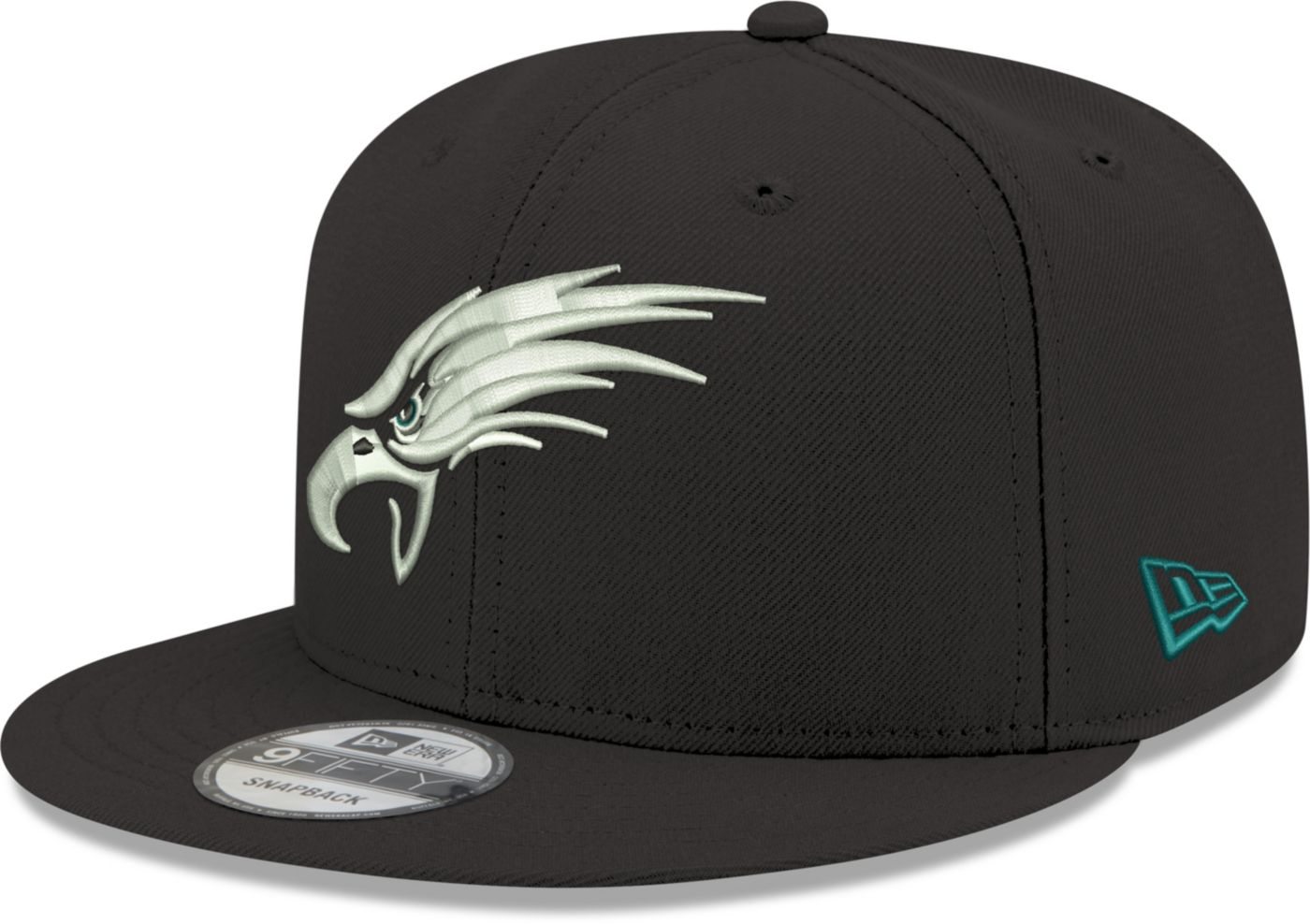 New Era Men's Philadelphia Eagles Elemental 9Fifty Adjustable Black Hat