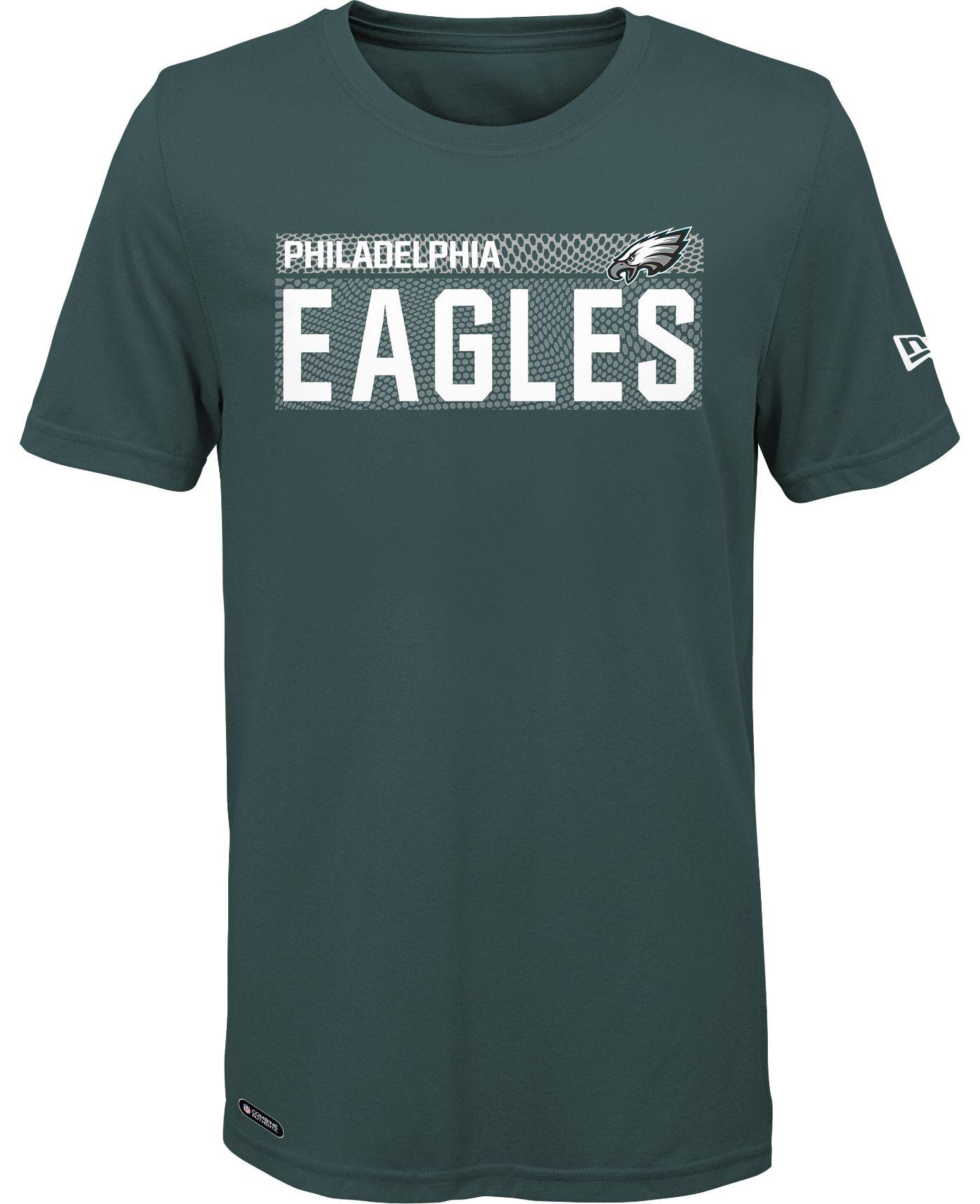 New Era Men's Philadelphia Eagles Combine Green Polyester T-Shirt