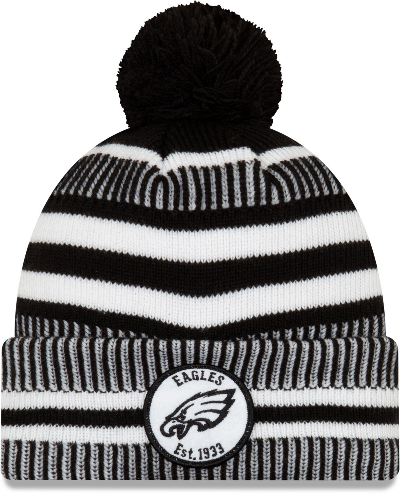 New Era Men's Philadelphia Eagles Sideline Home Sport Pom Knit