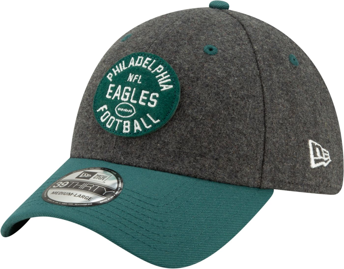 New Era Men's Philadelphia Eagles Sideline Home 39Thirty Stretch Fit Hat
