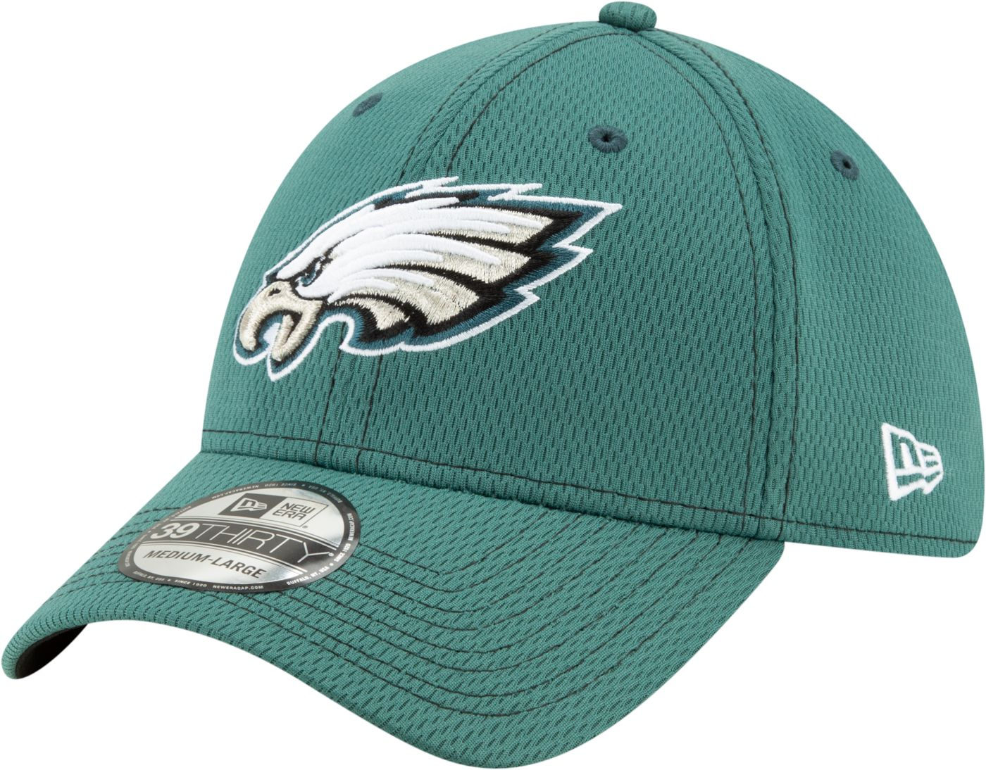 New Era Men's Philadelphia Eagles Sideline Road 39Thirty Stretch Fit Hat