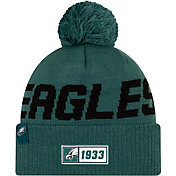 New Era Men's Philadelphia Eagles Sideline Road Sport Pom Knit