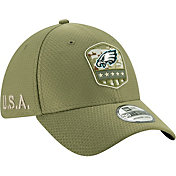 New Era Men's Salute to Service Philadelphia Eagles 39Thirty Olive Stretch Fit Hat