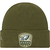New Era Men's Salute to Service Philadelphia Eagles Olive Cuffed Knit