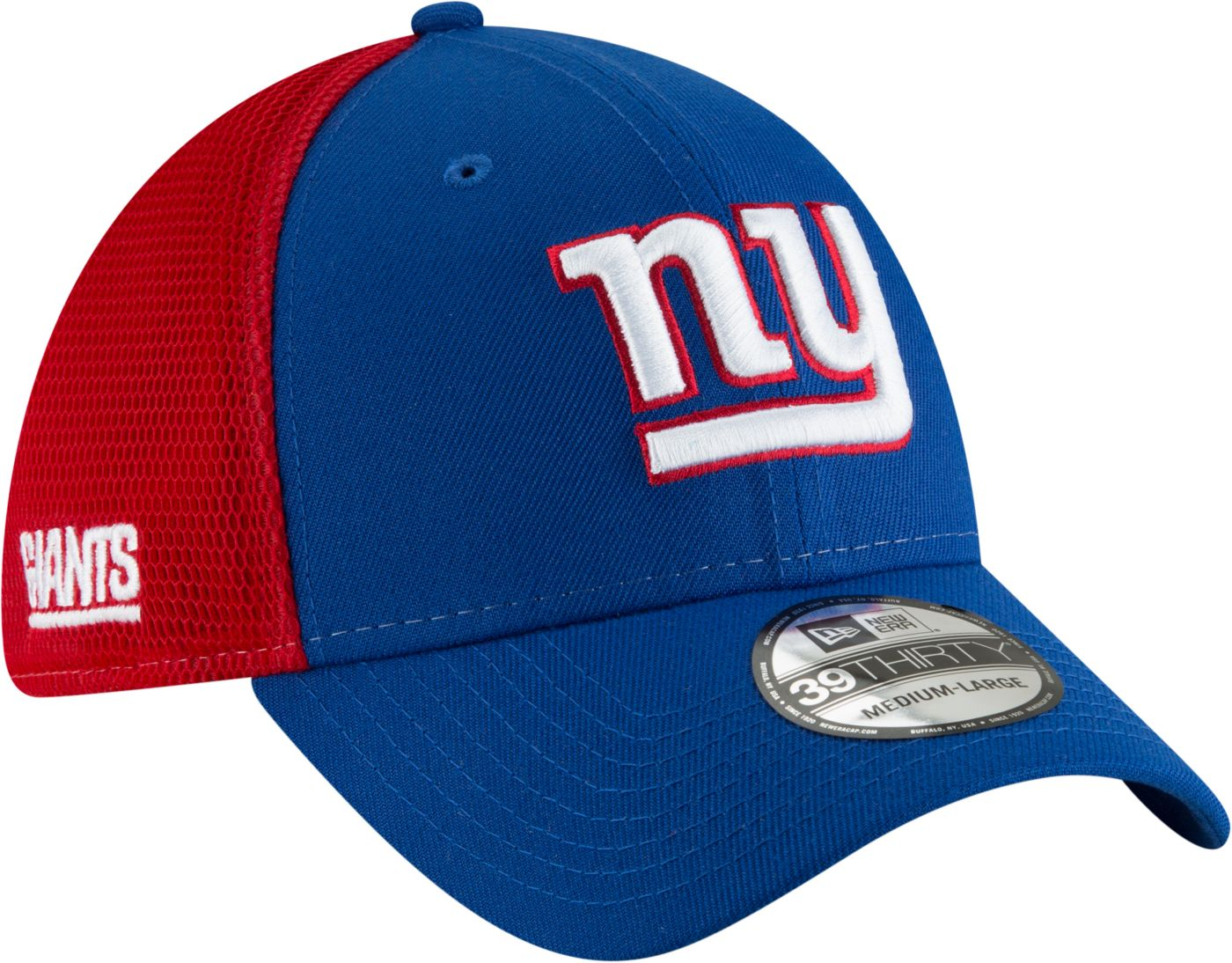 New Era Men's New York Giants 2Tone Sided 39Thirty Stretch Fit Hat