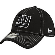 New Era Men's New York Giants Sideline Road 39Thirty Stretch Fit Black Hat