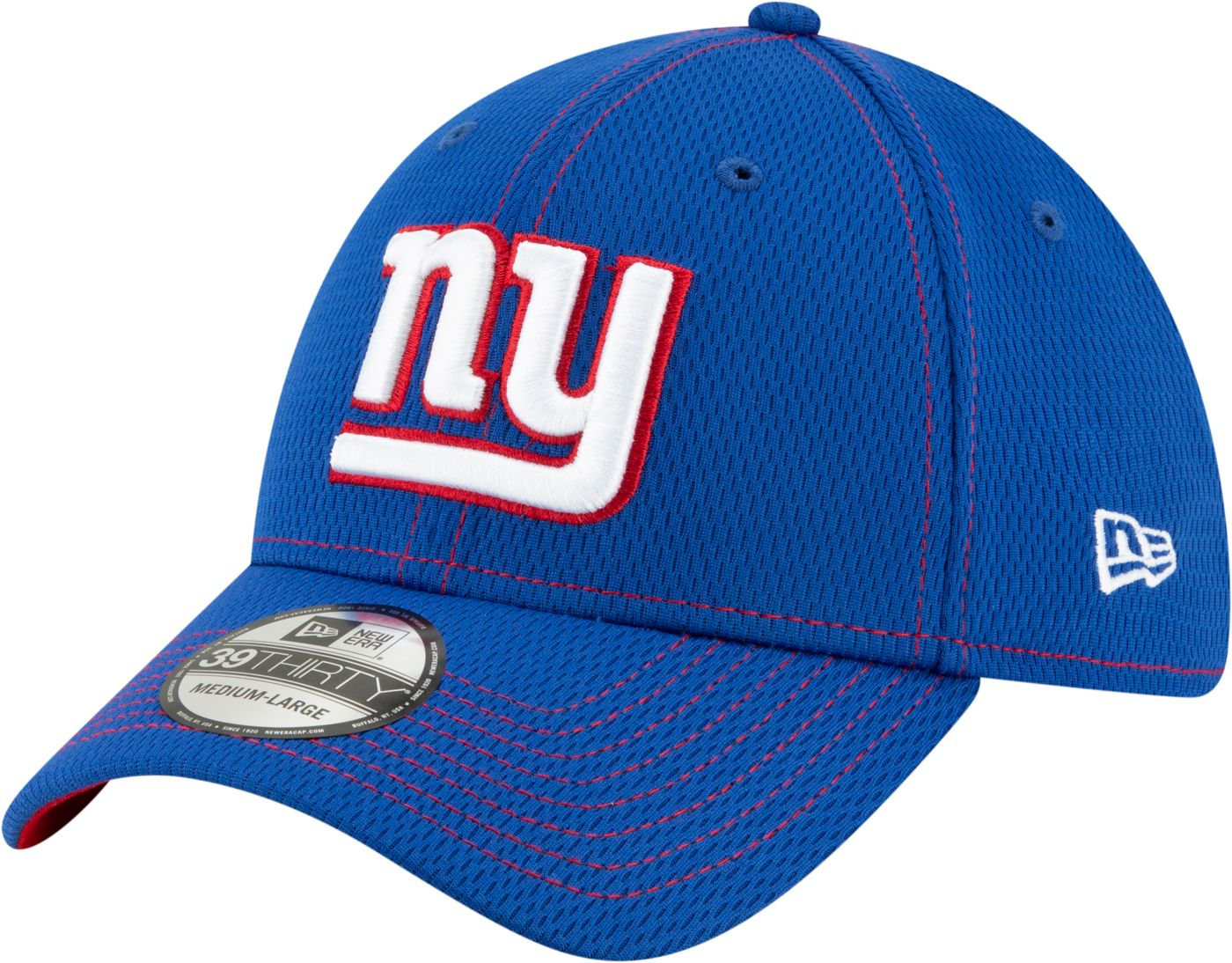 New Era Men's New York Giants Sideline Road 39Thirty Stretch Fit Hat