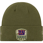 New Era Men's Salute to Service New York Giants Olive Cuffed Knit
