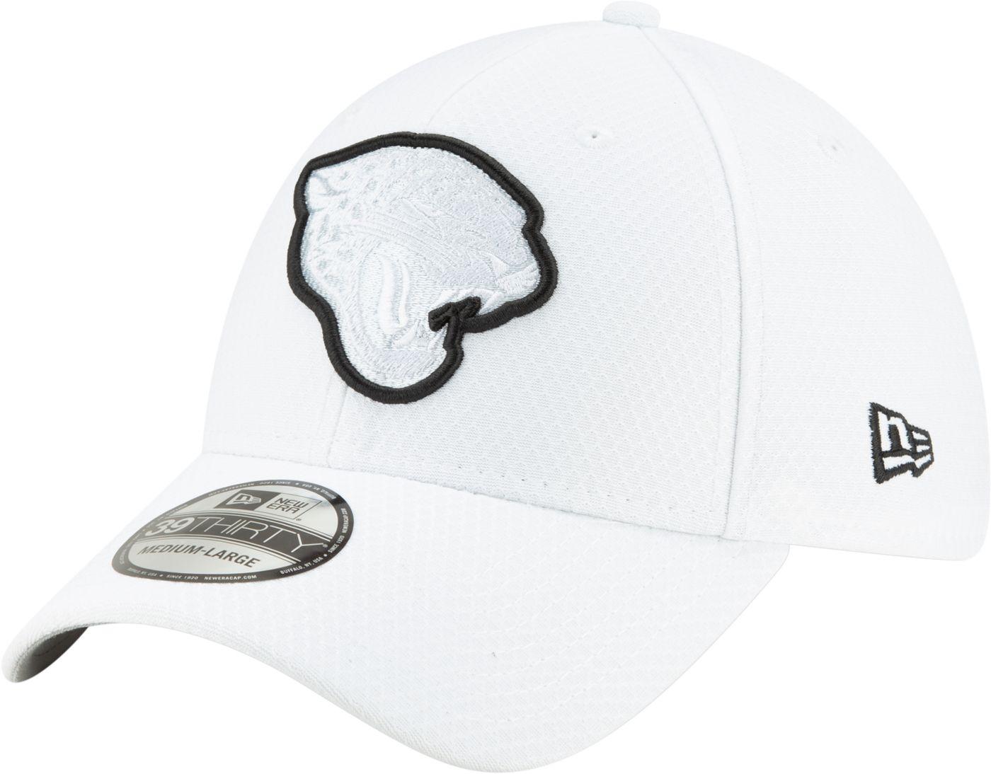 New Era Men's Jacksonville Jaguars Sideline 100th 39Thirty Stretch Fit White Hat