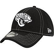 New Era Men's Jacksonville Jaguars Sideline Road 39Thirty Stretch Fit Black Hat