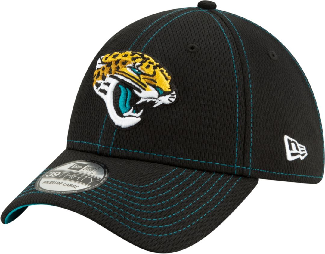 d7abe4a2 New Era Men's Jacksonville Jaguars Sideline Road 39Thirty Stretch Fit Hat