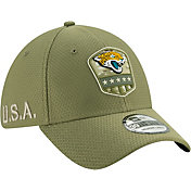 New Era Men's Salute to Service Jacksonville Jaguars 39Thirty Olive Stretch Fit Hat