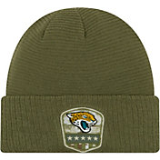 New Era Men's Salute to Service Jacksonville Jaguars Olive Cuffed Knit