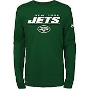 New Era Men's New York Jets Combine Green Polyester Long Sleeve Shirt