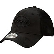 New Era Men's New York Jets Neo Camo Front 39Thirty Black Stretch Fit Hat