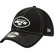 New Era Men's New York Jets Sideline Road 39Thirty Stretch Fit Black Hat