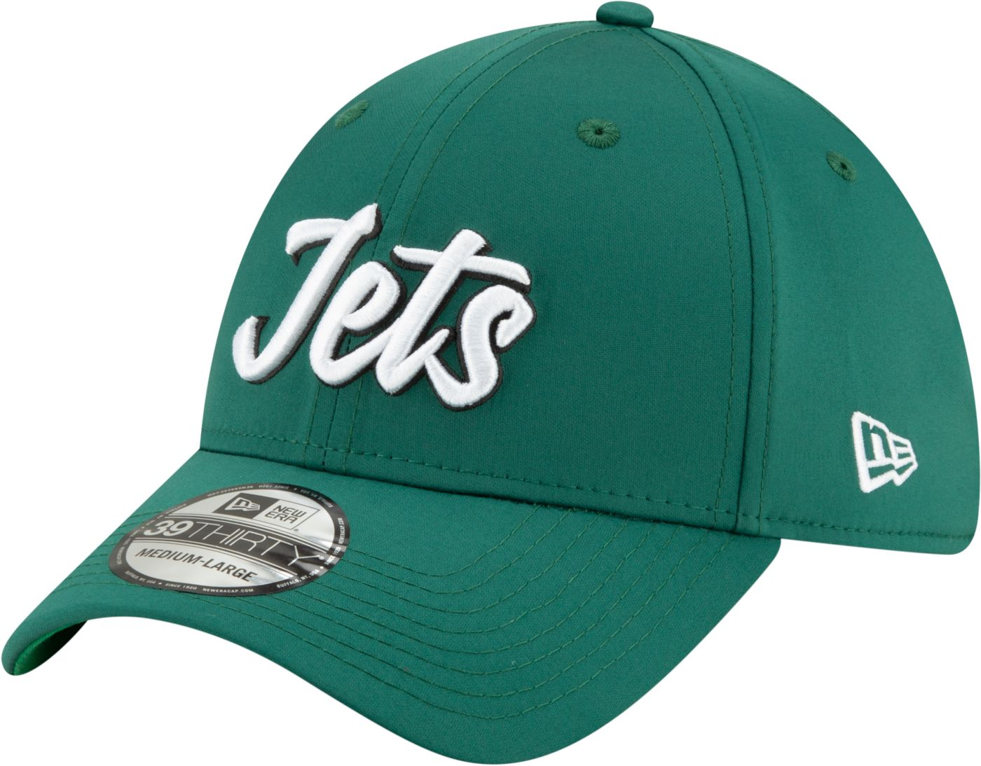 New Era Men's New York Jets Sideline Home 39Thirty Stretch Fit Hat