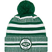 New Era Men's New York Jets Sideline Home Sport Pom Knit