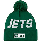 New Era Men's New York Jets Sideline Road Sport Pom Knit