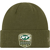 New Era Men's Salute to Service New York Jets Olive Cuffed Knit