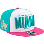New Era Men's Super Bowl LIV 9Fifty Snap Adjustable Aqua/Pink Hat