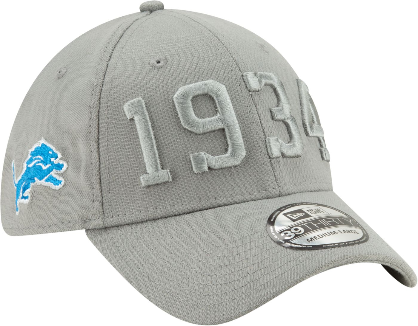 New Era Men's Detroit Lions Sideline Color Rush 39Thirty Stretch Fit Hat