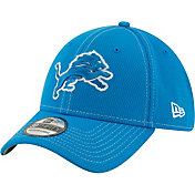 New Era Men's Detroit Lions Sideline Road 39Thirty Stretch Fit Hat