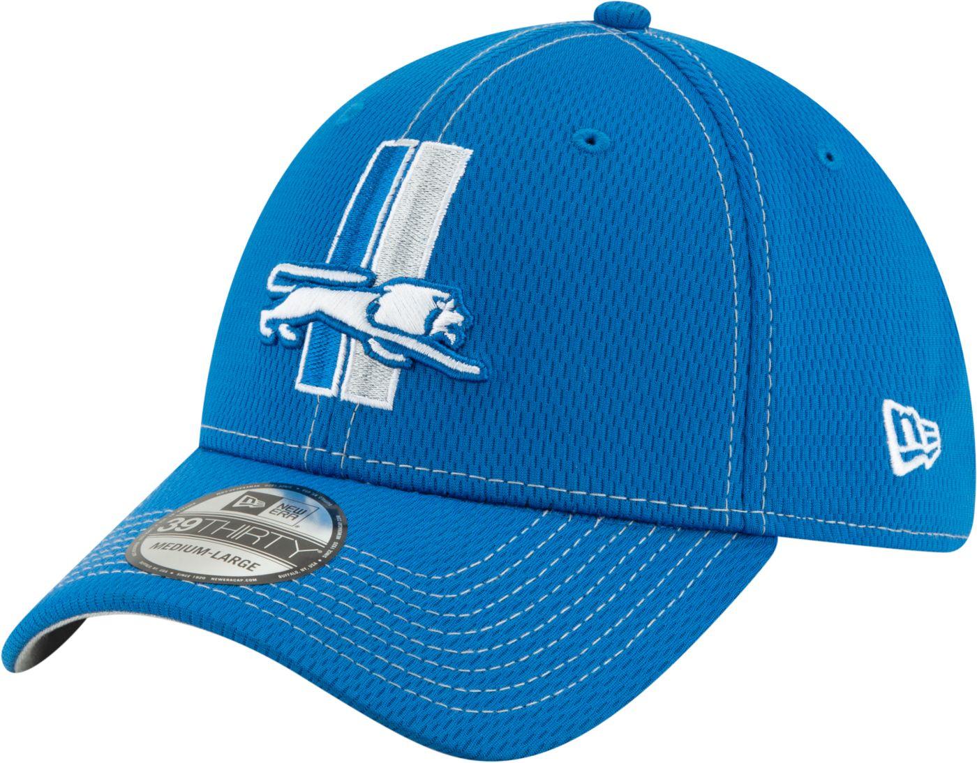 New Era Men's Detroit Lions Sideline Road 39Thirty Stretch Fit Hat