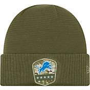 New Era Men's Salute to Service Detroit Lions Olive Cuffed Knit
