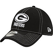 New Era Men's Green Bay Packers Sideline Road 39Thirty Stretch Fit Black Hat