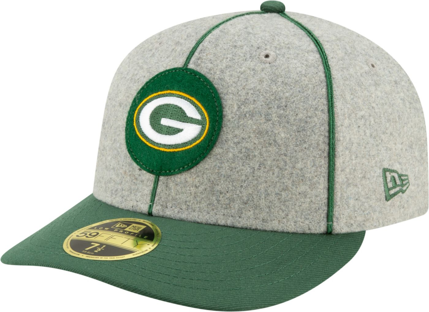 New Era Men's Green Bay Packers Sideline Home 59Fifty Fitted Hat