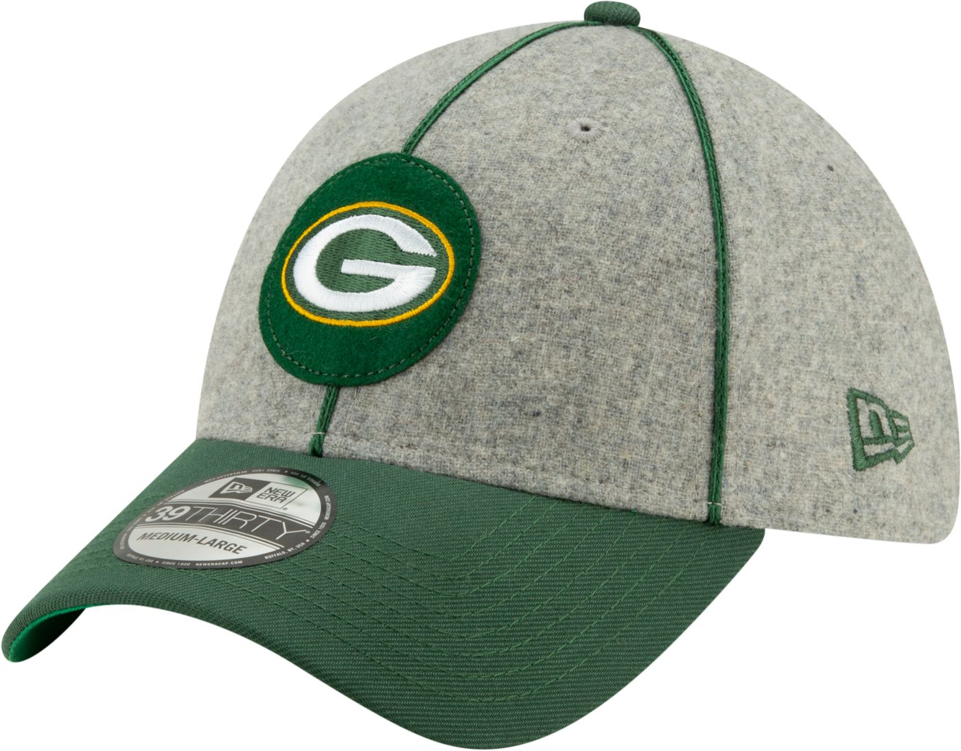 New Era Men's Green Bay Packers Sideline Home 39Thirty Stretch Fit Hat