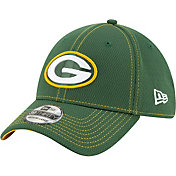 New Era Men's Green Bay Packers Sideline Road 39Thirty Stretch Fit Hat