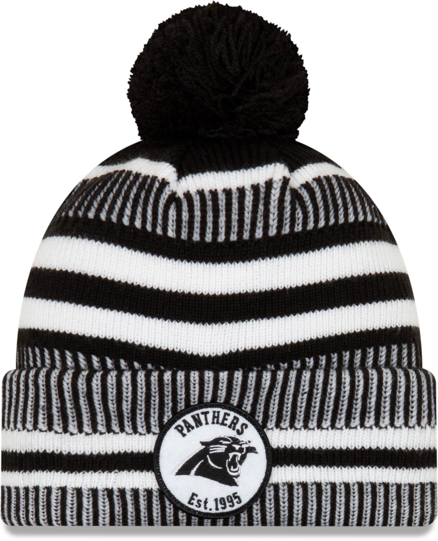 New Era Men's Carolina Panthers Sideline Home Sport Pom Knit